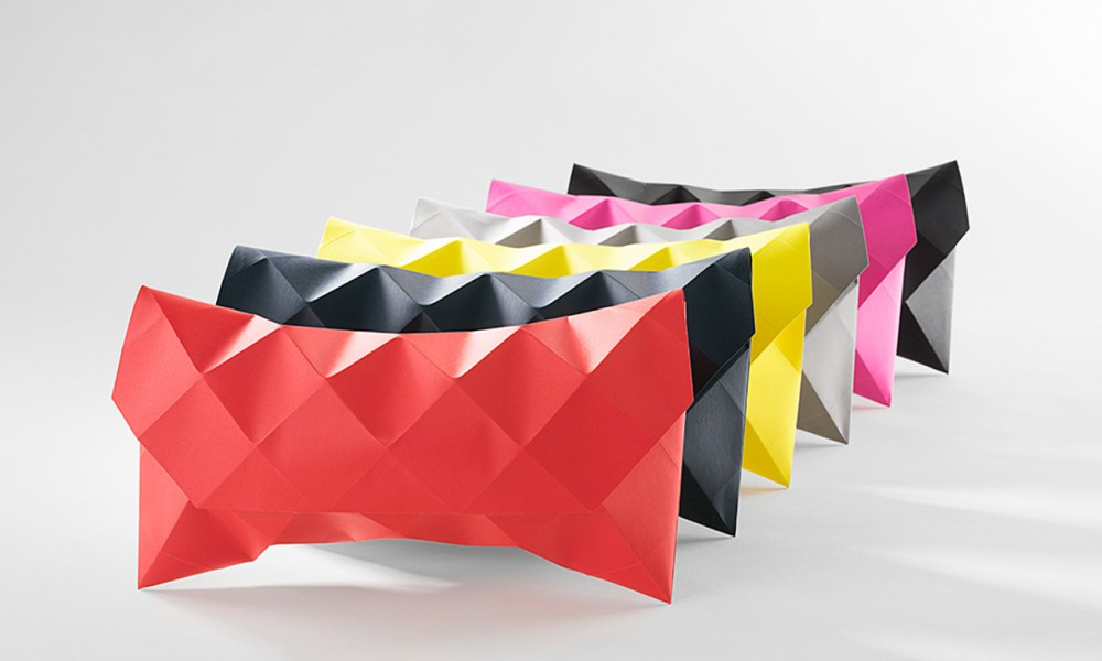 folded paper purses packaging art design