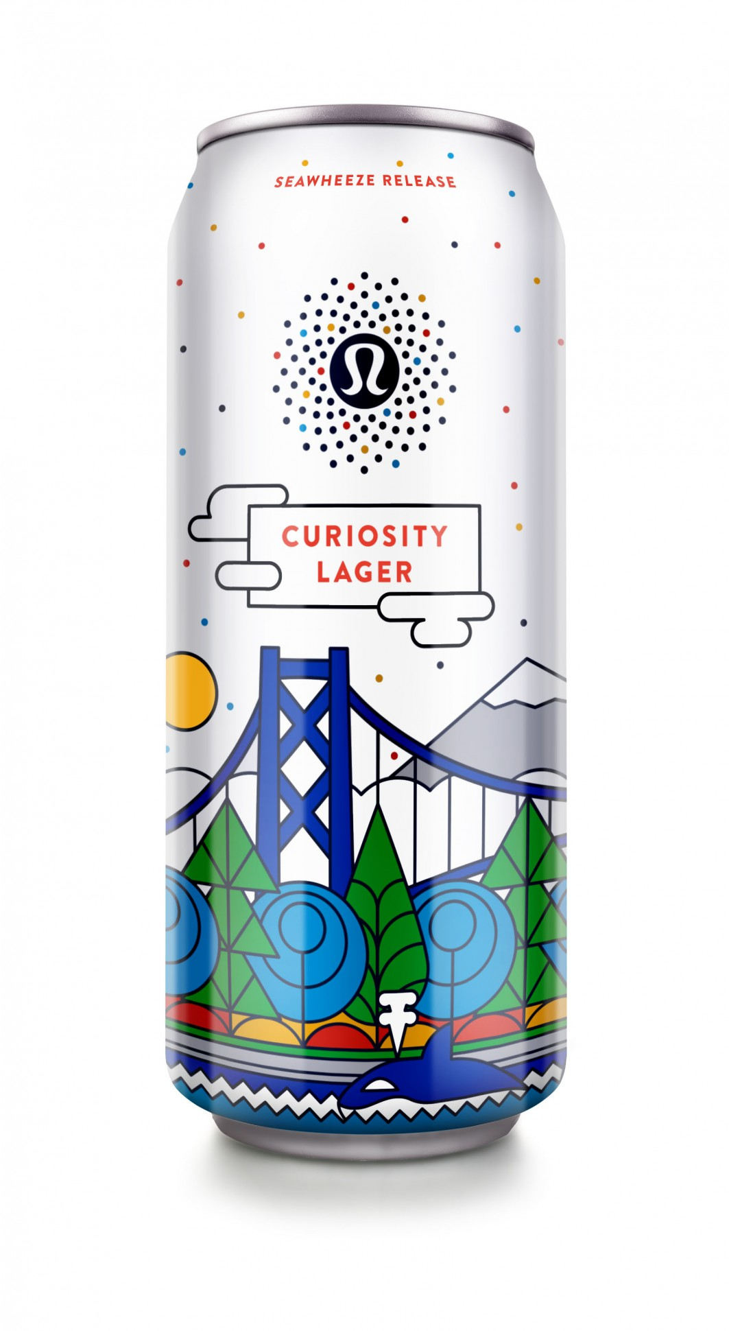 Curiosity-Lager-yoga beer lululemon packaging design
