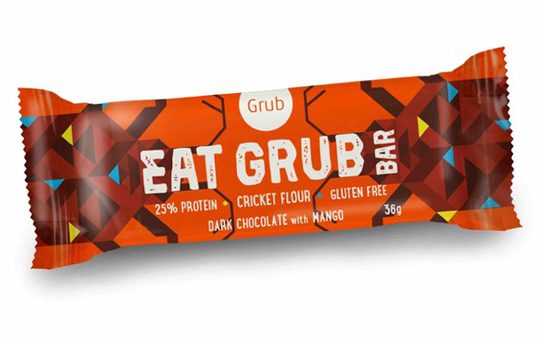 Grub cricket flour snack bar packaging design