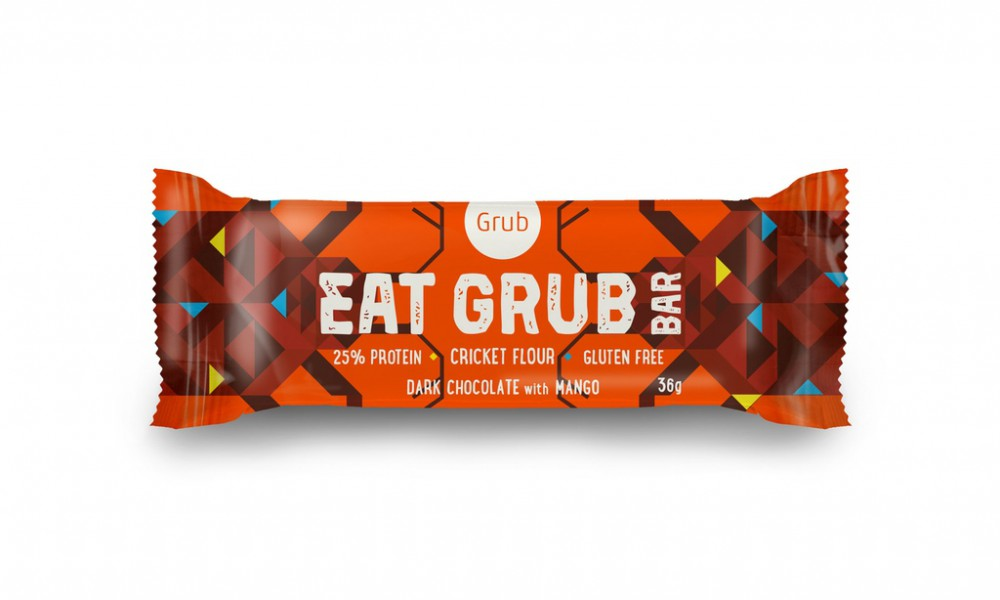grub insect cricket flour bar packaging design