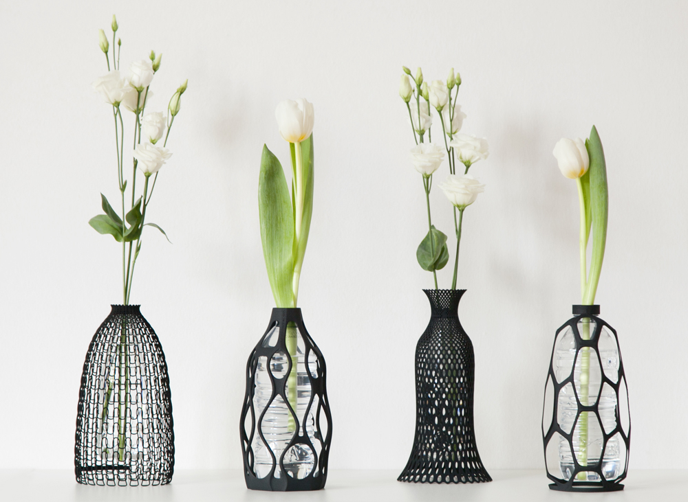 libero rutilo creates a collection of design vases combining upcycling and 3d printing ambalaj. Black Bedroom Furniture Sets. Home Design Ideas