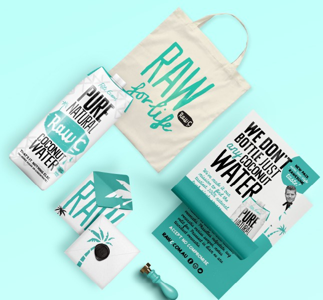 raw c coconut water packaging design tetra pak