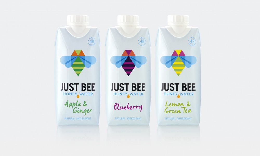 just bee packaging design tetra pak honey water 1