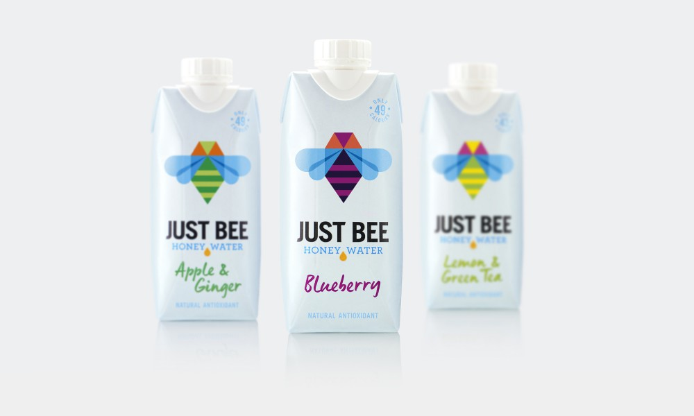 just bee packaging design tetra pak honey water 4
