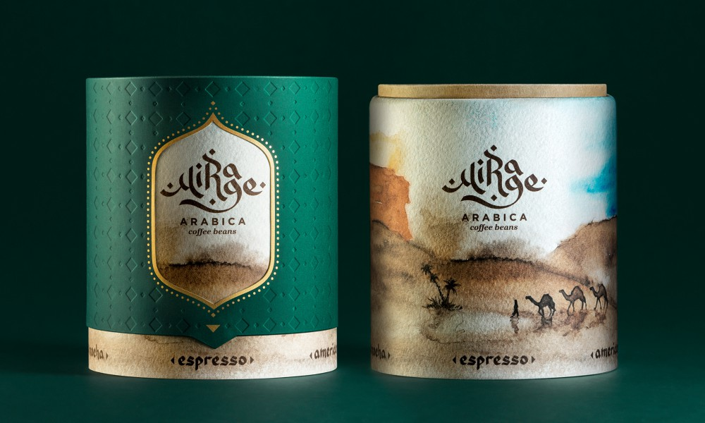 Mirage arabica coffee packaging concept 4