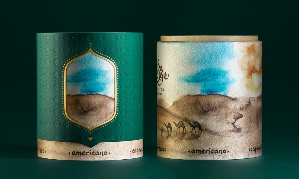 Mirage arabica coffee packaging concept 5