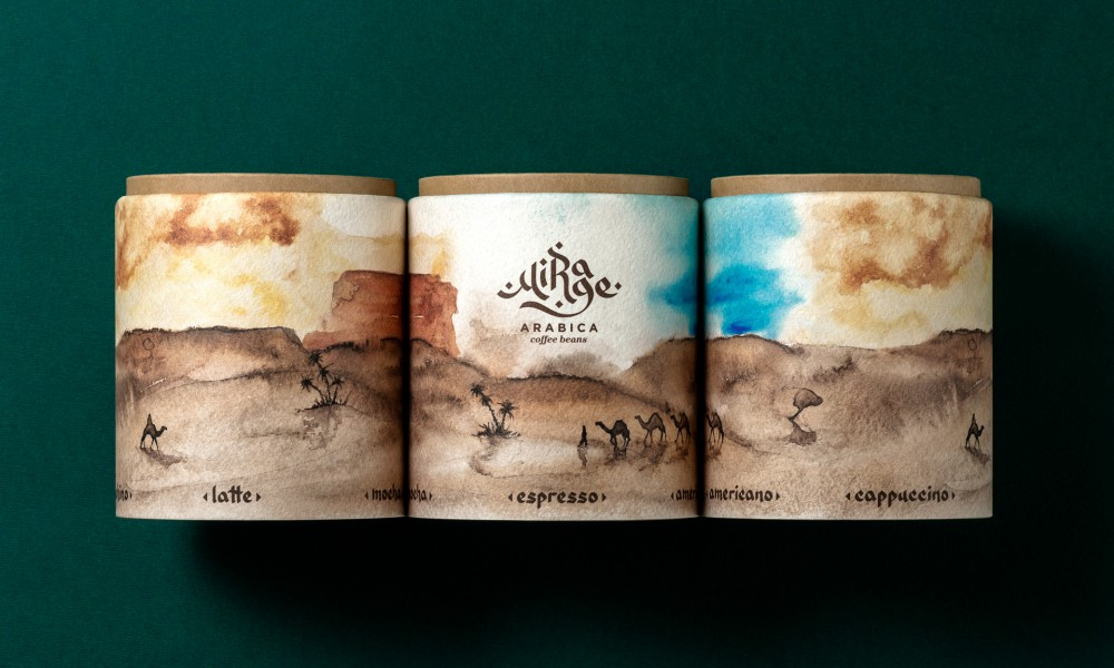 Mirage arabica coffee packaging concept 6